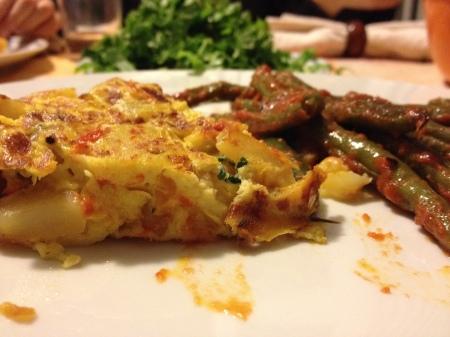 frittata con peperoni patate e basilico