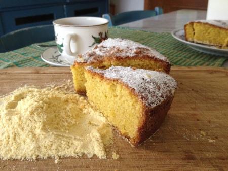 torta di mais e limone